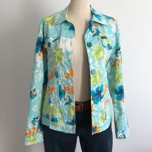 Simon Chang - Floral jeans jacket style 8
